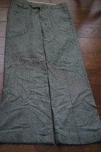GAP  Size 8 - Brown Tweed wide leg pants cuffs Cotton Wool Blend Dress P... - $17.09