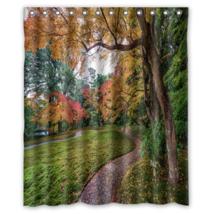 Beautiful Garden #01 Shower Curtain Waterproof Made From Polyester - $29.07+