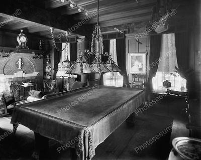 Fancy Old Fashioned Pool Table Vintage Billard 8x10 Reprint Of Old Photo