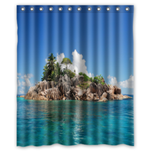 Beautiful Island #03 Shower Curtain Waterproof Made From Polyester - $29.07+