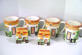 Charming Cottage Style Mugs with Salt & Pepper Set - $28.00
