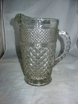 """ANCHOR HOCKING WEXFORD 9 1/2"""" CLEAR GLASS 2 QT WATER PITCHER - $9.99"""