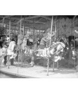 Father Daughter Merry Go Round 1934 Vintage 8x10 Reprint Of Old Photo - $20.10