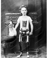 Girl Artificial Legs With Doll 1890 Vintage 8x10 Reprint Of Old Photo - $20.10