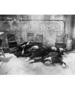 Grim St Valentines Day Massacre Scene 8x10 Reprint Of Old Photo - $19.75