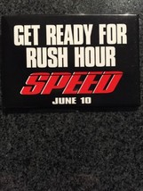 1994 SPEED June 10 Movie Promo Button Keanu Reeves Sandra Bullock  - $9.90