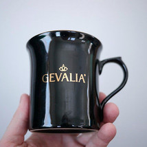 Vintage GEVALIA Logo Gourmet Glossy Black Gold ... - $16.99