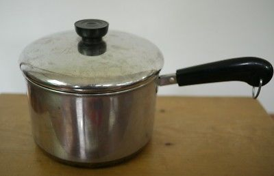 REVERE WARE Stainess Steel Copper Clad 3 Quart Qt Cooking Pot Sauce Pan w/ Lid