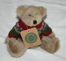 "Boyds Bears Sven Teddy Bear 9"" Knit Sweater Plush Stuffed Archive Tags S... - $16.37"