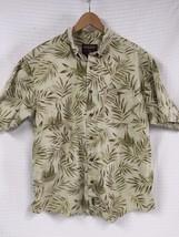 "GUC Men's WOOLRICH Sailboat Jungle Short Sleeve Shirt XL ""Natural Sailing"" - $24.95"