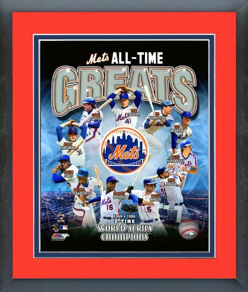 New York Mets All-Time Greats - 11 x 14 Matted/Framed Photo