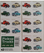 PICKUP TRUCKS 2016  First Class (USPS)  FOREVER Stamp Sheet 20 4 designs - $15.95