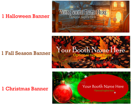 Bonanza 3 Seasonal Booth Banners   Personalized... - $5.99
