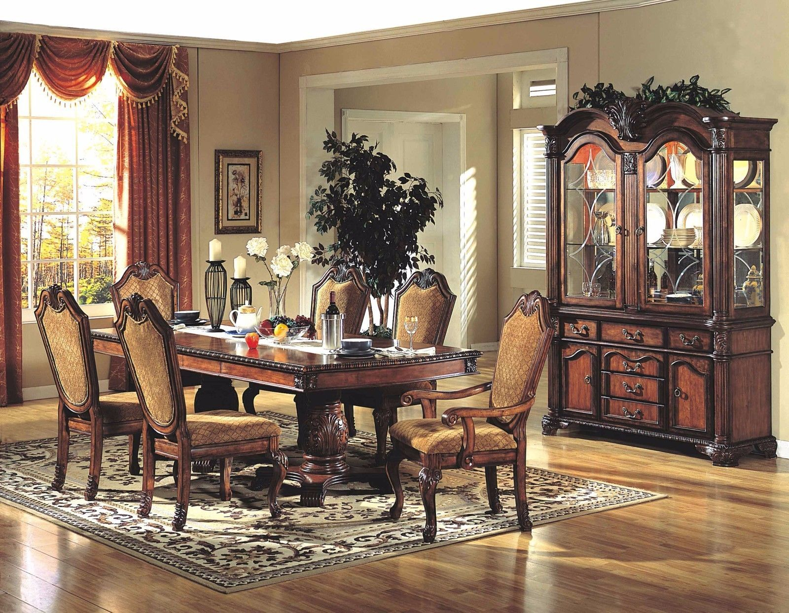 Mcferran RD5006 Dining Room Set 5pc. Furnishings Traditional Style