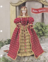 Ruby Queen, Annie's Fashion Doll Clothes Crochet Pattern Leaflet FC43-02... - $10.95