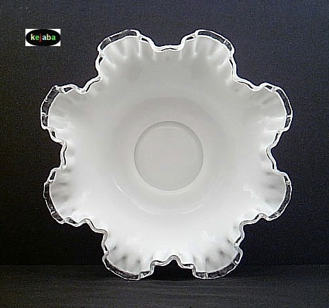 Fenton Silver Crest Bowl 10 In. Double Crimped 7224