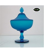 Westmoreland Blue Satin Covered Candy Jar - $24.95