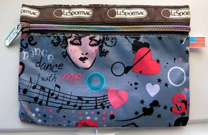 RAVE Dance With Me EveryGirl Music Print Fabric Zippered All Purpose Pouch