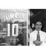 Man Outside 10 Cent Hair Cut Barber Shop 8x10 R... - $19.99