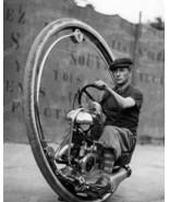 One Wheel Motorcycle Vintage 8x10 Reprint Of Ol... - $19.99
