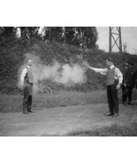 Person Shot Wearing Bullet Proof Vest 8x10 Reprint Of Old Photo - $19.98