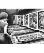 Pinball Machine Arcade 1970's Vintage 8x10 Repr... - $19.98