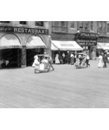 Push Cart On Boardwalk Atlantic City 1920 Vinta... - $20.10