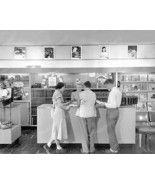 Record Store 1950 Vintage 8x10 Reprint Of Old P... - $20.10