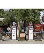 Route 66 Gas Station Pumps & Coke Sign 8x10 Rep... - $20.10