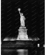 Statue Of Liberty Lit Up At Night 1910s 8x10 Re... - $20.10