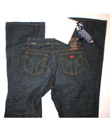 New NWT MISS SIXTY JEANS RIGID EXTRA LOW TY 25 X 33 Boot Dark Blue  - $10.00
