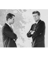 U.S President Kennedy & Brother Robert Chat Vintage 1960s Reprint 8x10 O... - $20.10