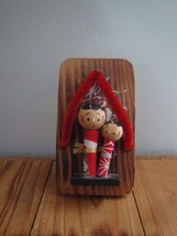 Japanese Kokeshi Dolls on Wooden Shoe Shirokiya... - $29.99