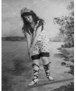Victorian Girl in Bathing Suit Dive 8x10 Reprin... - $20.20