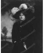 Victorian Lady In Large Feather Hat Vintage 8x1... - $20.20