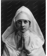 Victorian Praying Nun Portrait 1900s 8x10 Repri... - $20.20