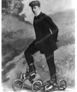 Young Man On Pedal Roller Skates Vintage 8x10 R... - $20.20