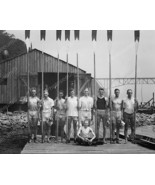 Young Men's Rowing Club Pose With Oars 8x10 Rep... - $20.20