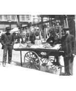 Young Street Vendor Boys Wth Cart 8x10 Reprint Of Old Photo - $20.20