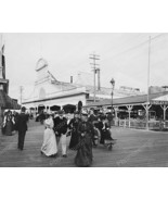 Youngs Ocean Pier Boardwalk Atlantic City 8x10 Reprint Of Old Photo - $20.20