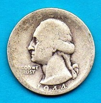 1944  Washington Silver Quarter - Circulated Moderate Wear - $8.00
