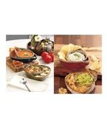 Stoneware Soup & Side Bowls Sets of 2 Chips & Dip Convenient Heavy Duty ... - $24.98