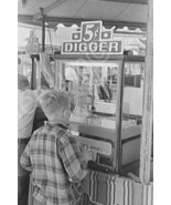 Crane Claw Digger Midway Game 5 Cent Play 4x6 R... - $11.65