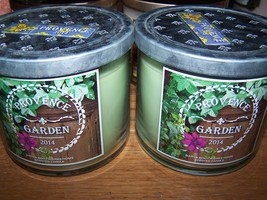 Lot of 2 Bath & Body Works Provence Garden 3 Wick Candle with Lid 14.5 o... - $38.99
