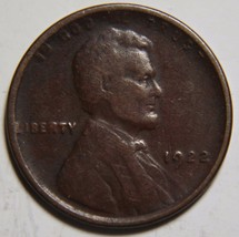 1922 LINCOLN PENNY 1¢ Cent Wheat Coin LOT# MZ 4608