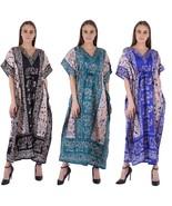 Maxi Dress New Long Kaftan Hippy Boho Women Caftan Top Dress Gown Free Size - $19.79