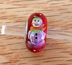 "Fenton ""Feelin' Frosty"" Snowman - Christmas / Winter 2017 Bead - USA! - $31.50"