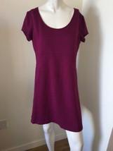 INC International Concepts Womens Mauve Pink shift dress Knit short slee... - $18.68