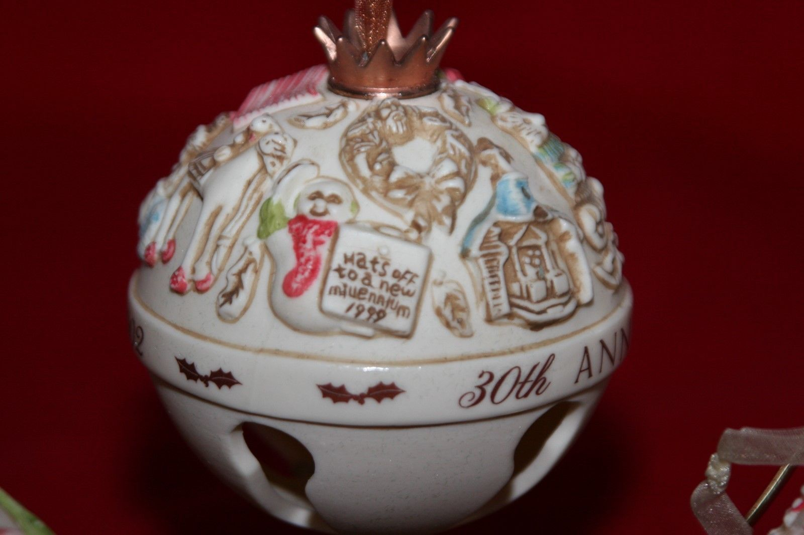 Hallmark Keepsake Club Exclusive 30th Anniversary Commemorative Bells NEW  image 5