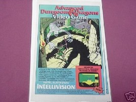 1982 Advanced Dungeons and Dragons Video Game Ad AD&D - $7.99